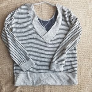 Maurices womens striped small gray sweater
